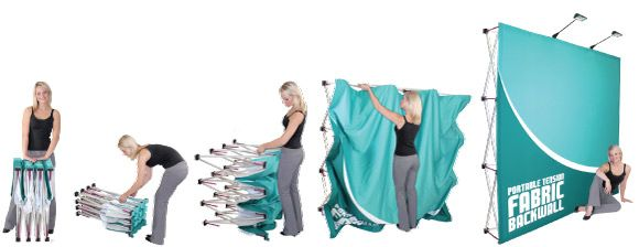 Hop Up Fabric Displays