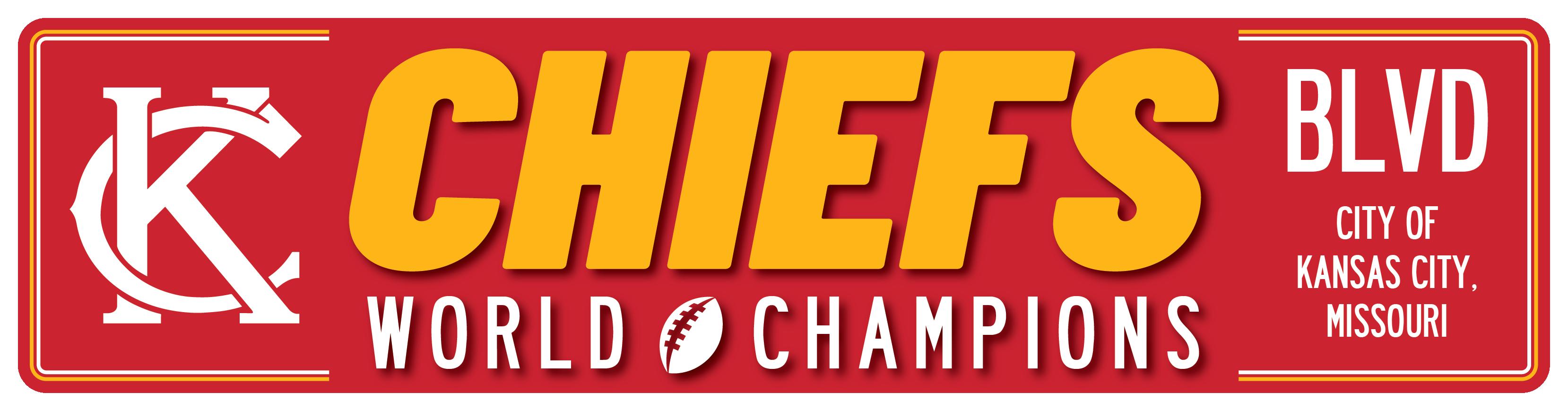"6""x23"" KC Chiefs World Champions Blvd"