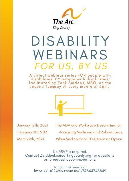 Disability Webinars:  When Medicaid and DDA Aren't an Option