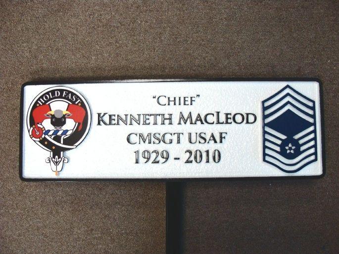 V31686 - Carved Memorial Plaque for an Air Force CMSGT