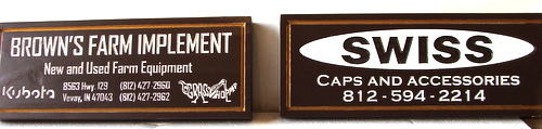SA28742 - Carved HDU Signs for New and Used Farm Equipment and for Caps and Accessories