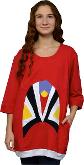 Dress T-Shirt 3/4 Sleeve Red
