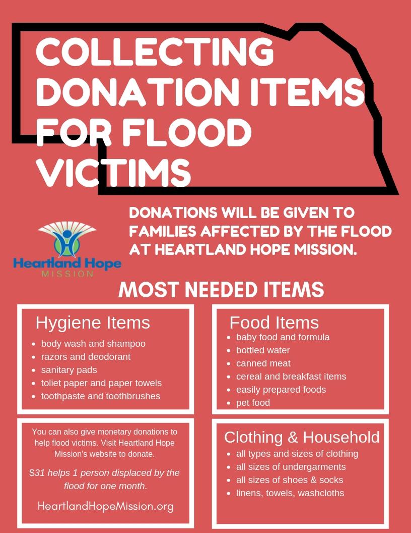 Help Flood Victims Flyer