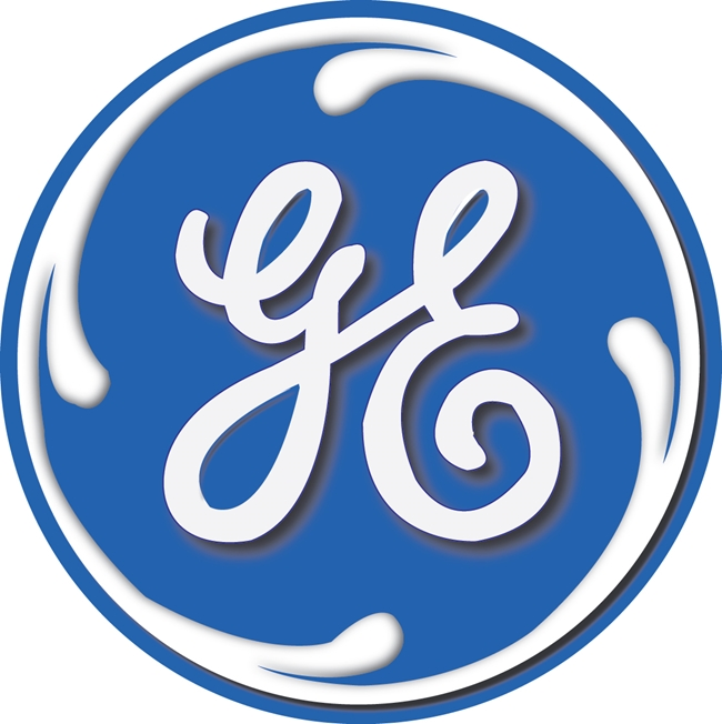 VP-1400 - Carved Wall Plaque of the Logo of General Electric (GE),  Artist Painted