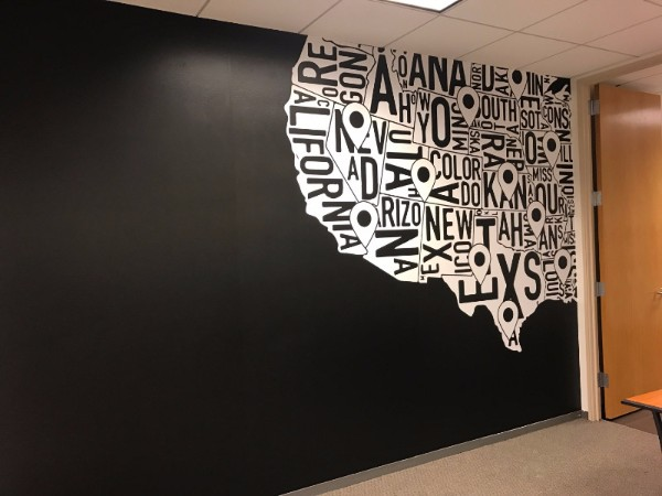 Where to buy office wall map murals in Orange County CA