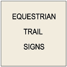 P25600 - Equestrian Trail and Road Crossing Signs