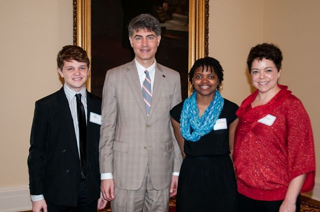Rep. Paul DeMarco with Homewood High School students, teacher