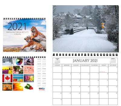 "8.5"" x 11"" Wallmount Calendar"