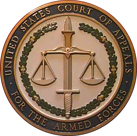 FP-1540 - Carved Plaque of the Seal of the US Court of Appeals, Armed Forces,  3-D Bronze Plated