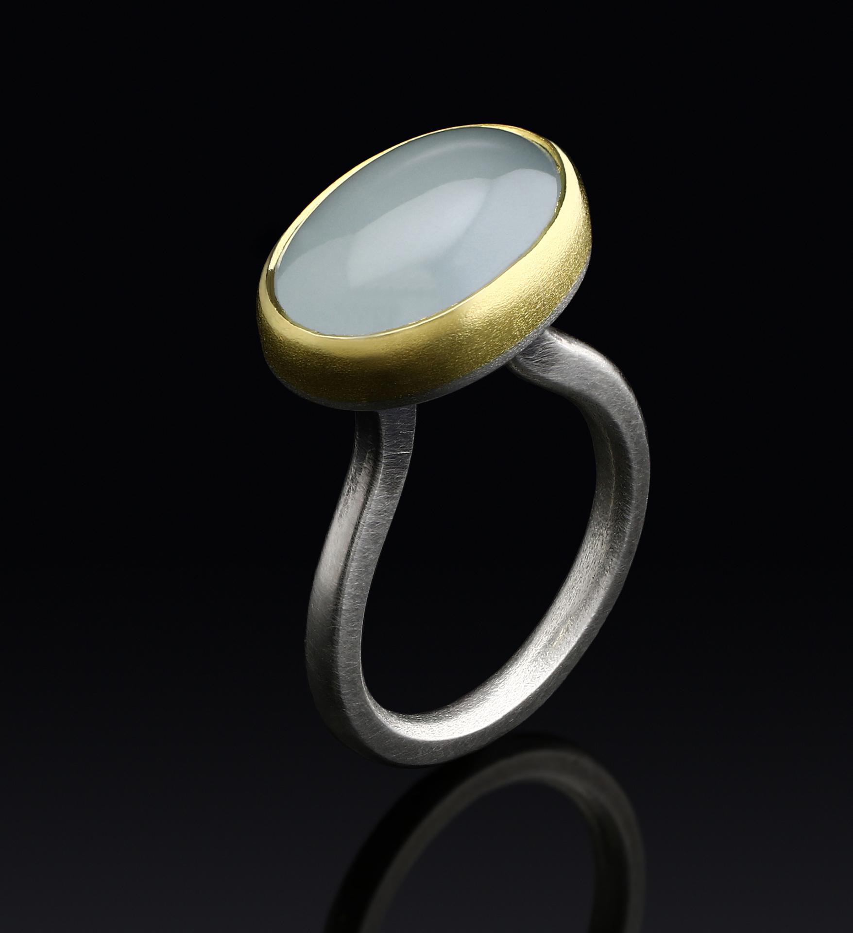 Aquamarine Tulip Ring