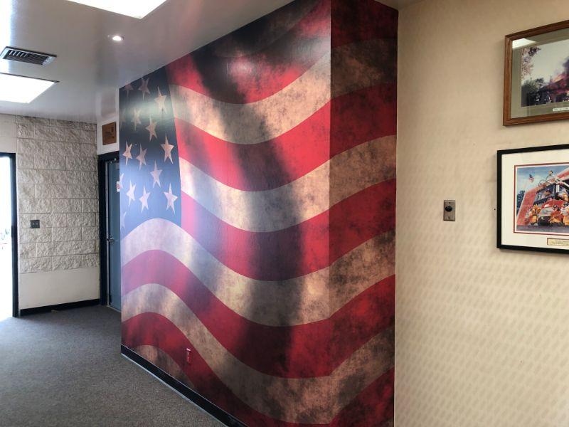 Custom American Flag Wall Wraps | Orange County CA