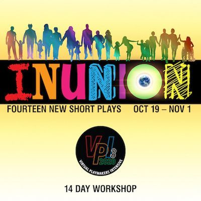 "the TBTB's VPI3: INUNION - 2020. A picture of TBTB's VPI 3 ""INUNION"" logo, there are people holding hands in a line both sitting and standing."