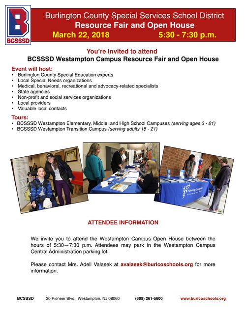 Burlington County Special Services School District Open House & Resource Fair