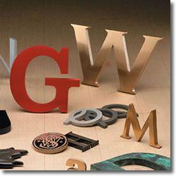 M5412 - Cast Metal Letters