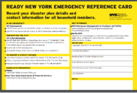 Emergency Reference Card