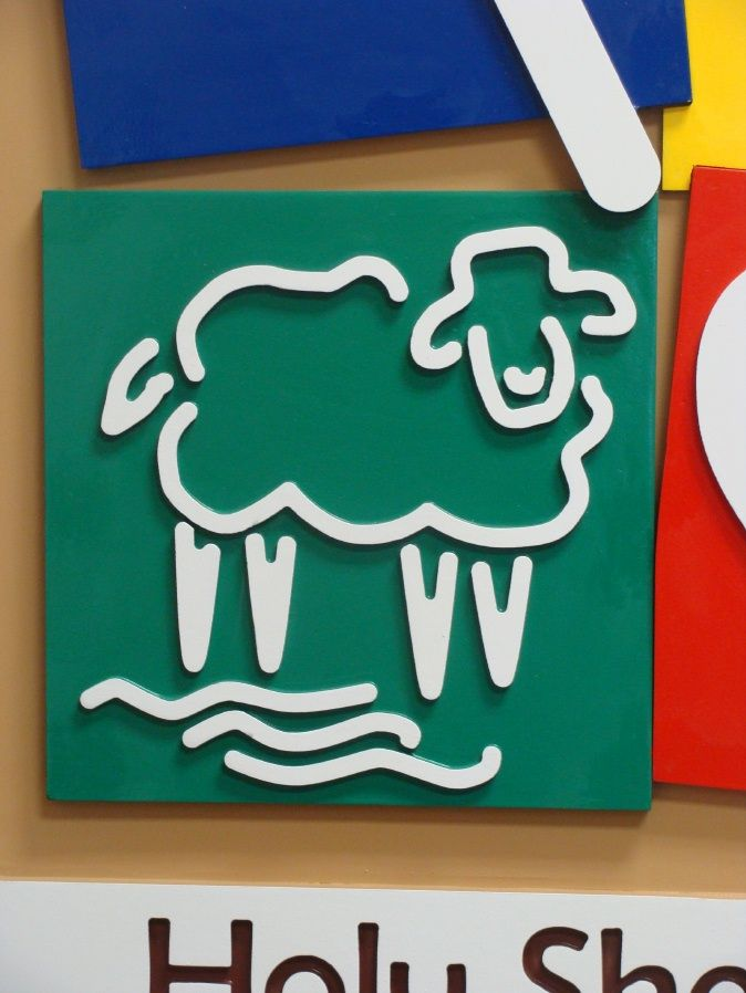 FA15931 - Detail of Christian Pre-School Sign