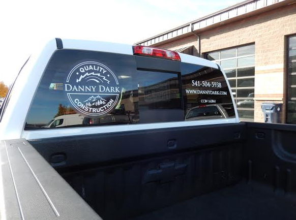 Contractor window decals Central OR