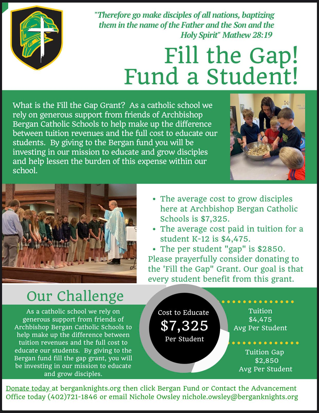 Fill the Gap! Fund a Student!