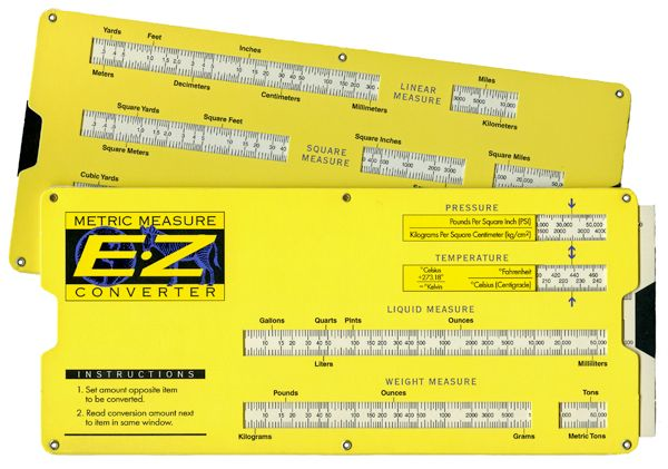 Metric Converter Slide Rule Calculator