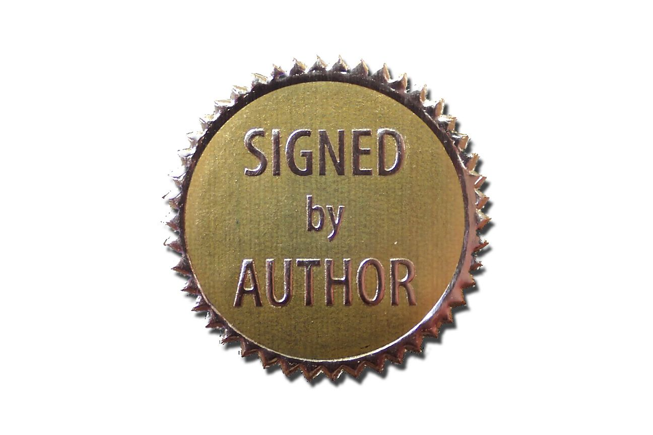 Signed by Author Stickers