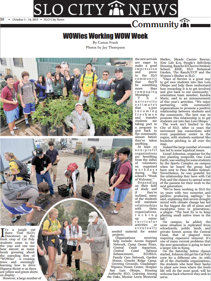 WOWies Working WOW Week - SLO City News