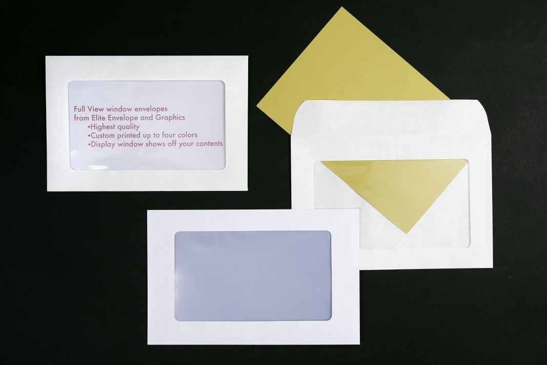 Full View Window Envelopes