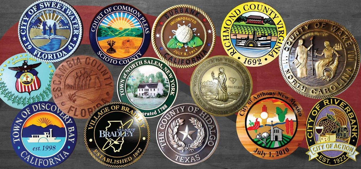 County, City and Village Government Wall Plaques