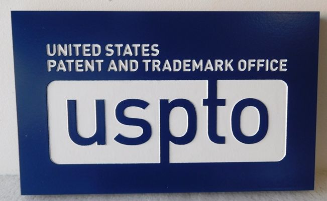 AP-5035 - Plaque of Logo of the Patent & Trademark Office, Department of Commerce, Artist Painted