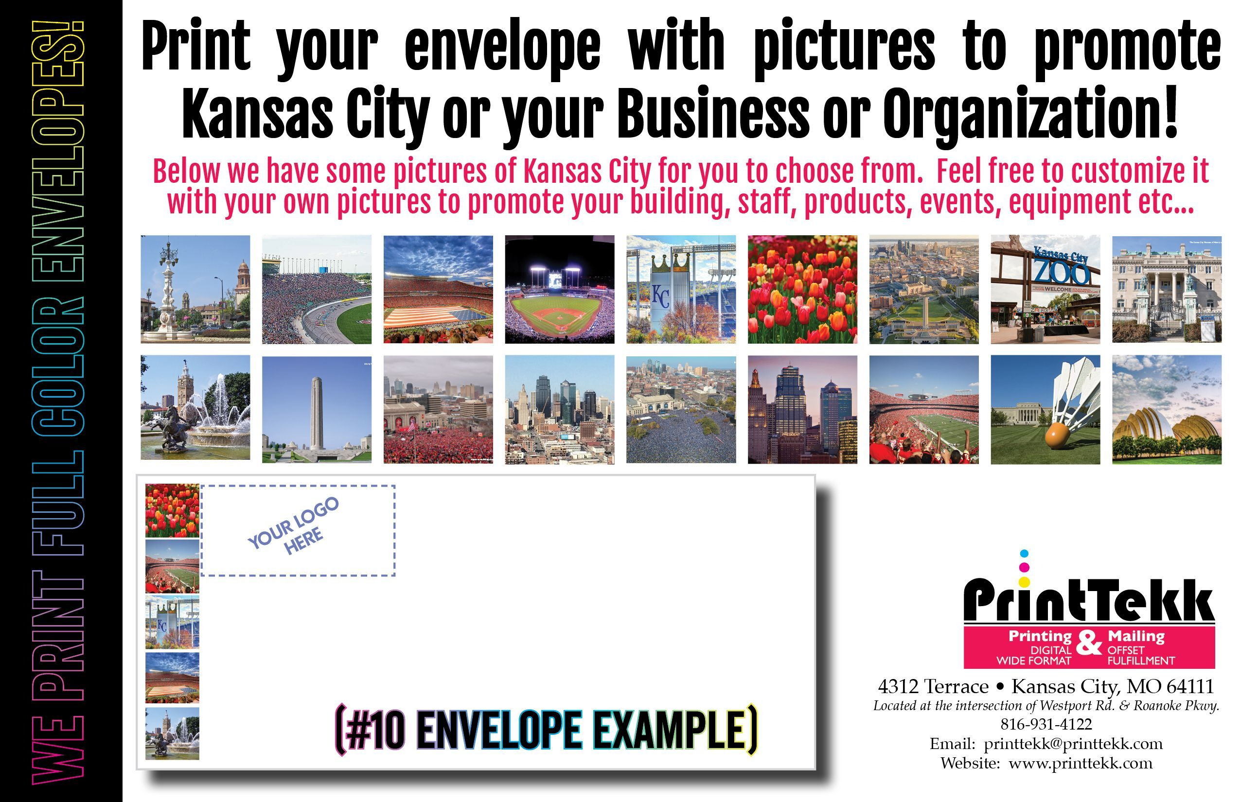Print your envelope with pictures