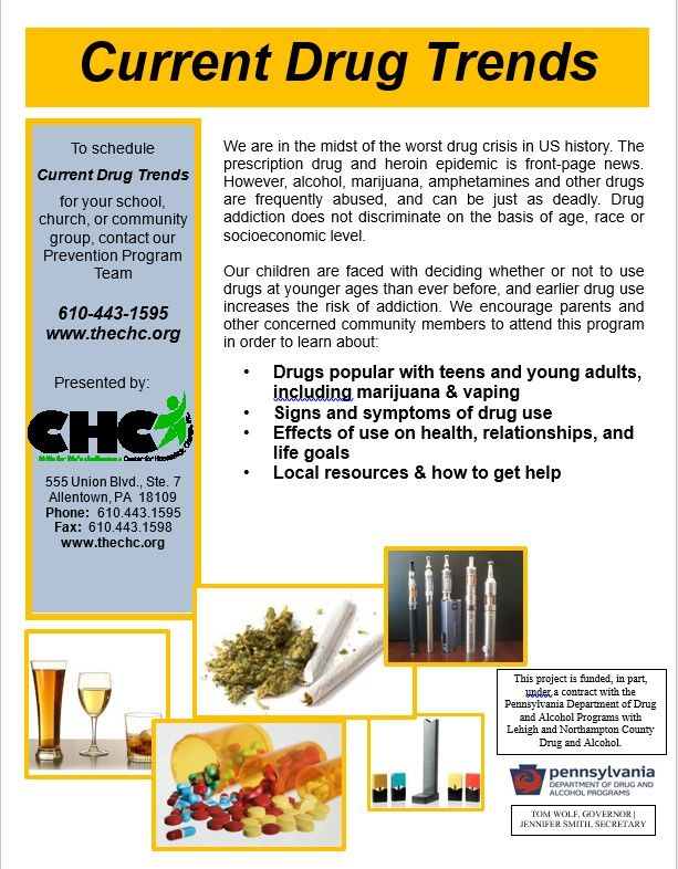 Current Trends in Drugs & Alcohol Flyer