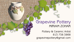 Business Card Design & Printing - Grapevine Pottery