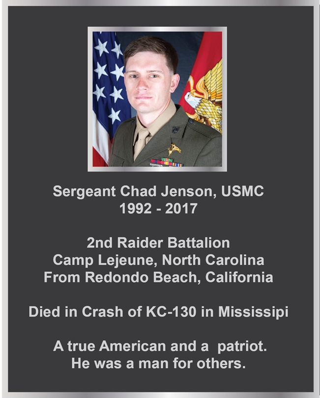 MD4340 - Memorial Plaque for a Marine, 2.5-D with Giclee Photo