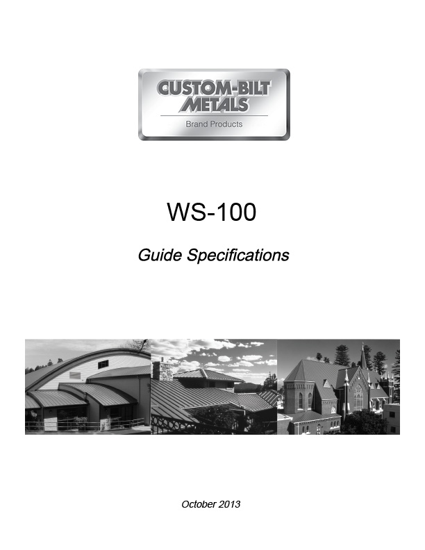 Guide Specs: WS-100