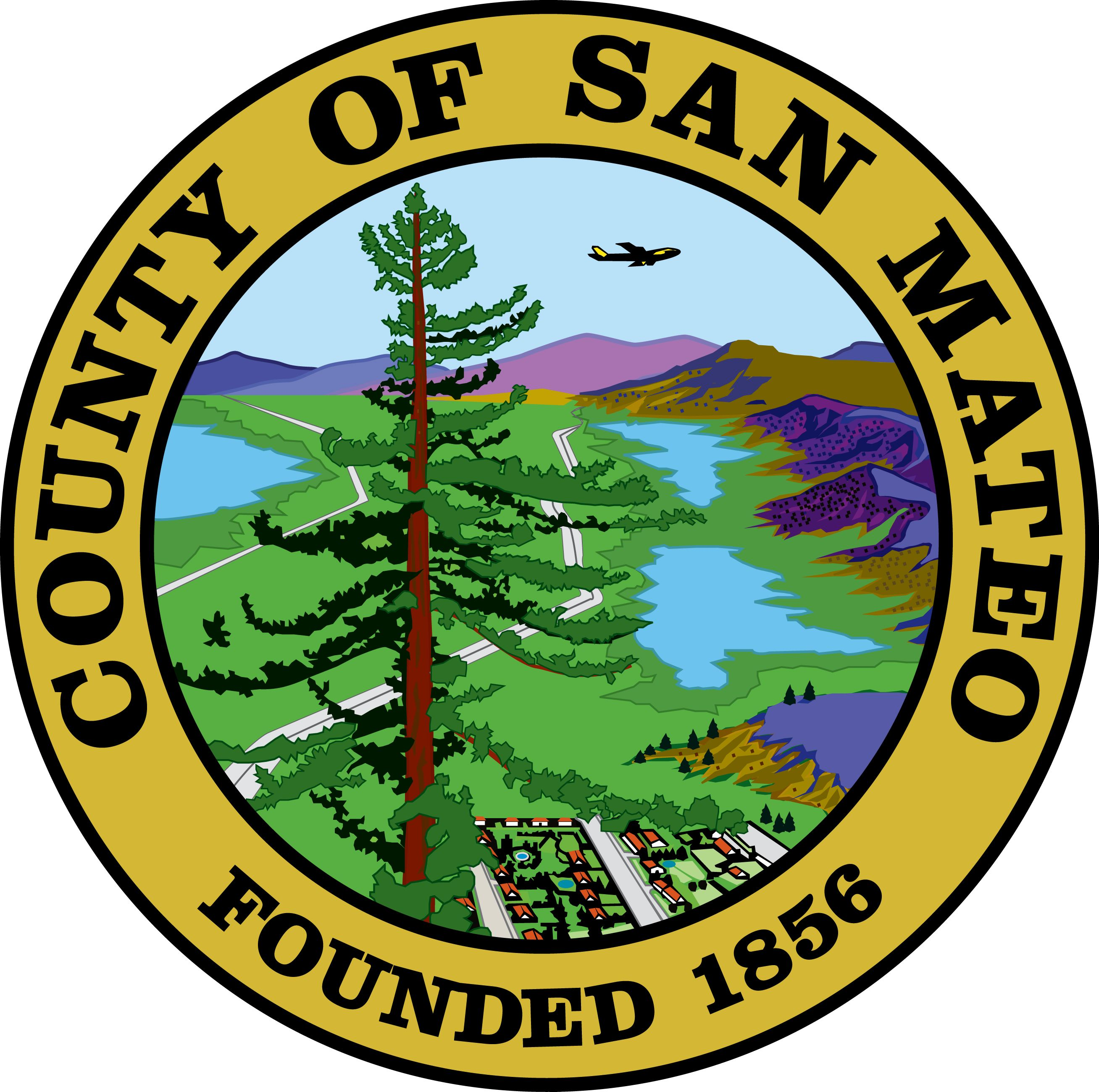 CP-1600 -  Plaque of the Seal of San Mateo County, California, Giclee