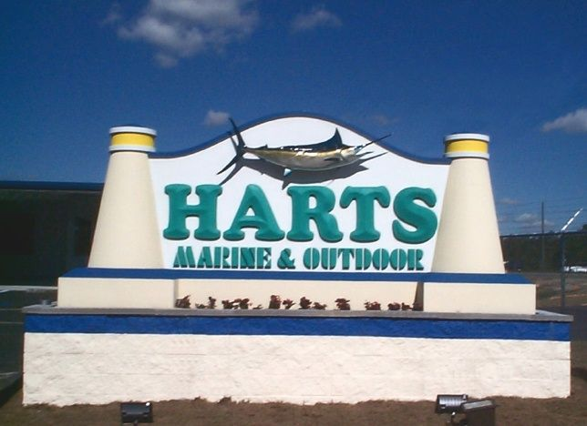 L22170 - Marine Supply Store Monument Sign with Sailfish
