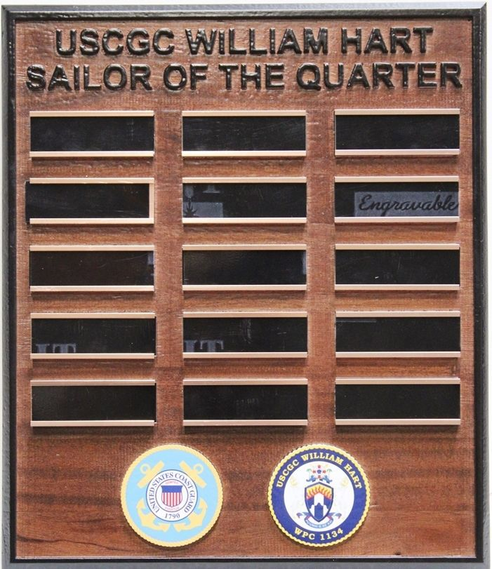 "SB1055 ""Sailor-of-the-Quarter"" AwardBoard for the US Coast Guard Cutter William Hart"