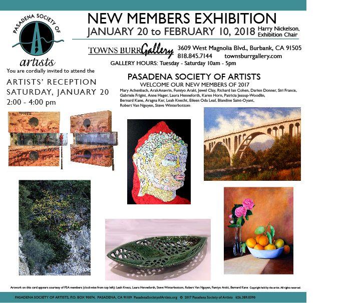 1/20/2018 - New Members Exhibition