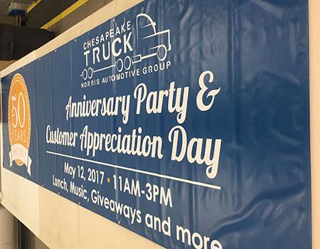 Chesapeake Truck Anniversary Banner
