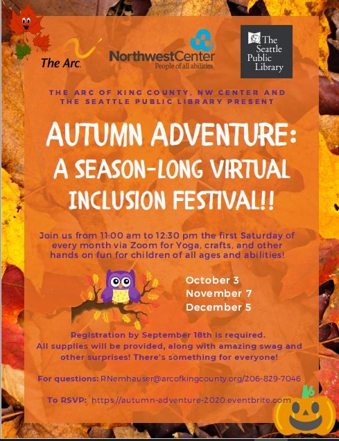 Autumn Adventure: A Seasonal Virtual Inclusion Festival