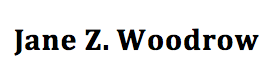Jane Z. Woodrow