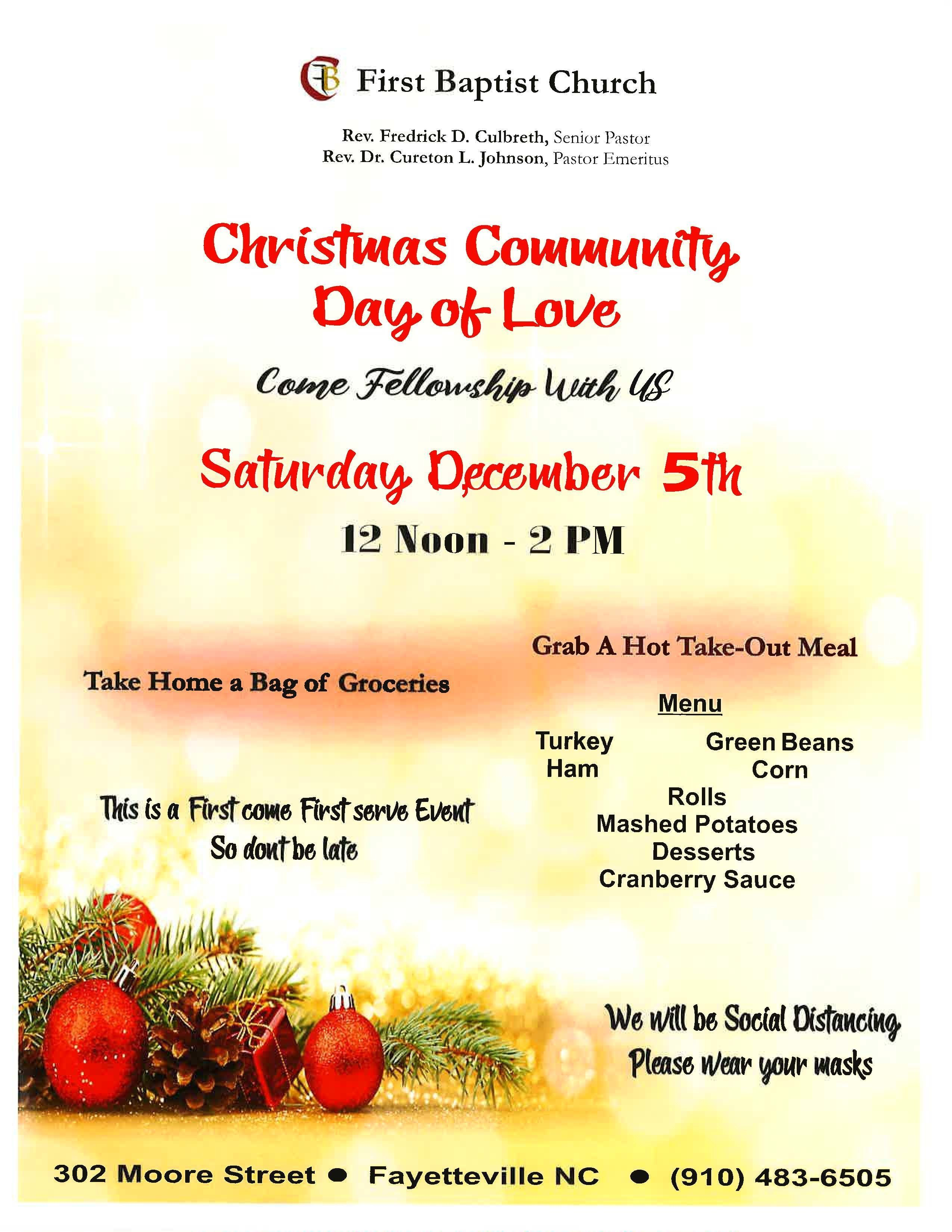 Christmas Community Day of Love
