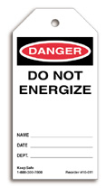 Do Not Energize Tag